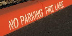 No Parking Fire Lane Curb